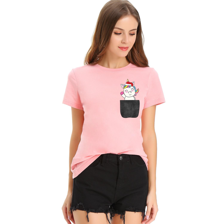 2020 nova moda senhoras camiseta casual bonito manga curta