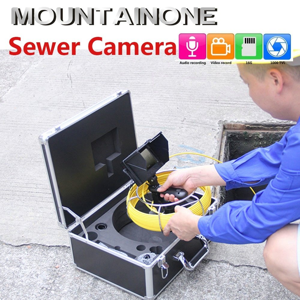 Promo 4.3 Inch Sewer Pipe Inspection Camera With 4400mA Power Bank IP68 Waterproof Drain Pipeline Industrial Endoscope Kit 20M/30M/50M
