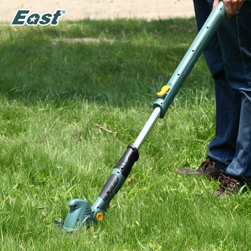 Leste 10.8 v bateria recarregável sem fio hedge trimmer grama cortador de grama jardim ferramentas elétricas et1007 2 em 1