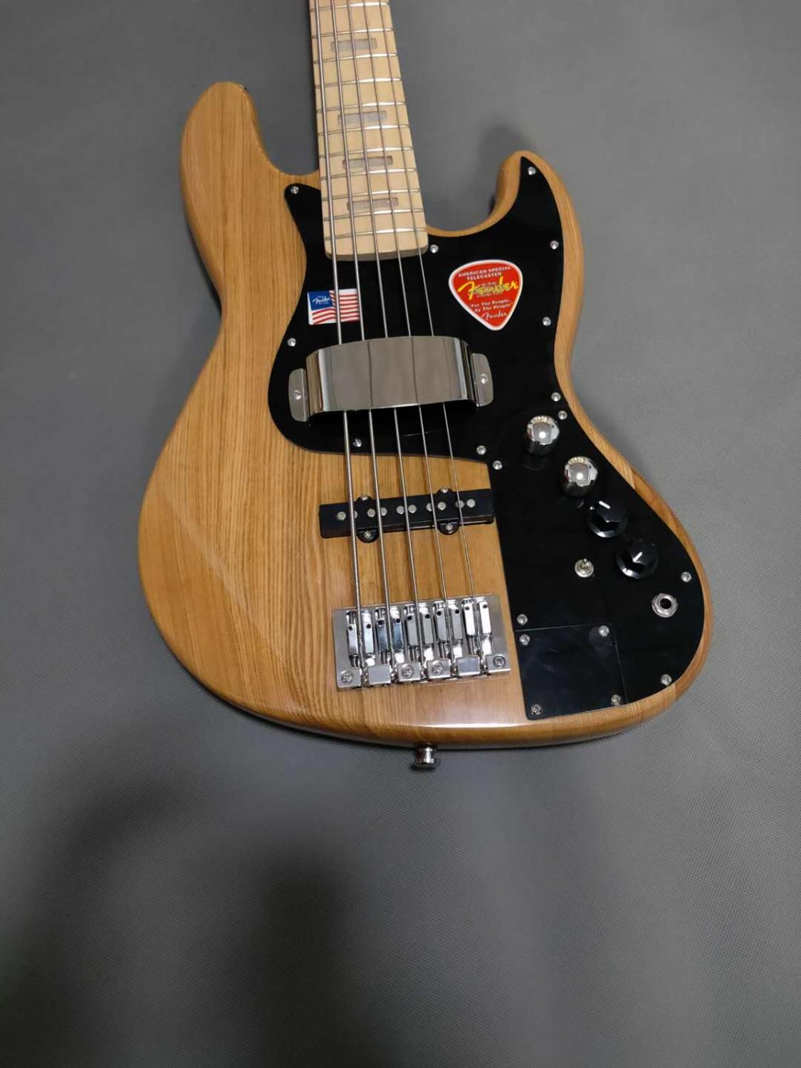 Classic custom 5 string bass electric guitar, elm natural color, perfect sound quality, free shipping enlarge