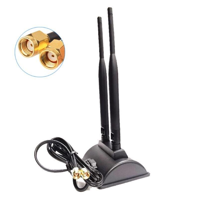 Envío Gratis 5G WiFi de doble banda antena 6DBi omnidireccional conector de clavija Base magnética