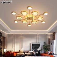 골드 블랙 LED 샹들리에 램프 거실 Bedrom 조명 원격 제어 낮은 천장 홈 실내 고정 장치 Luminaria Lustres