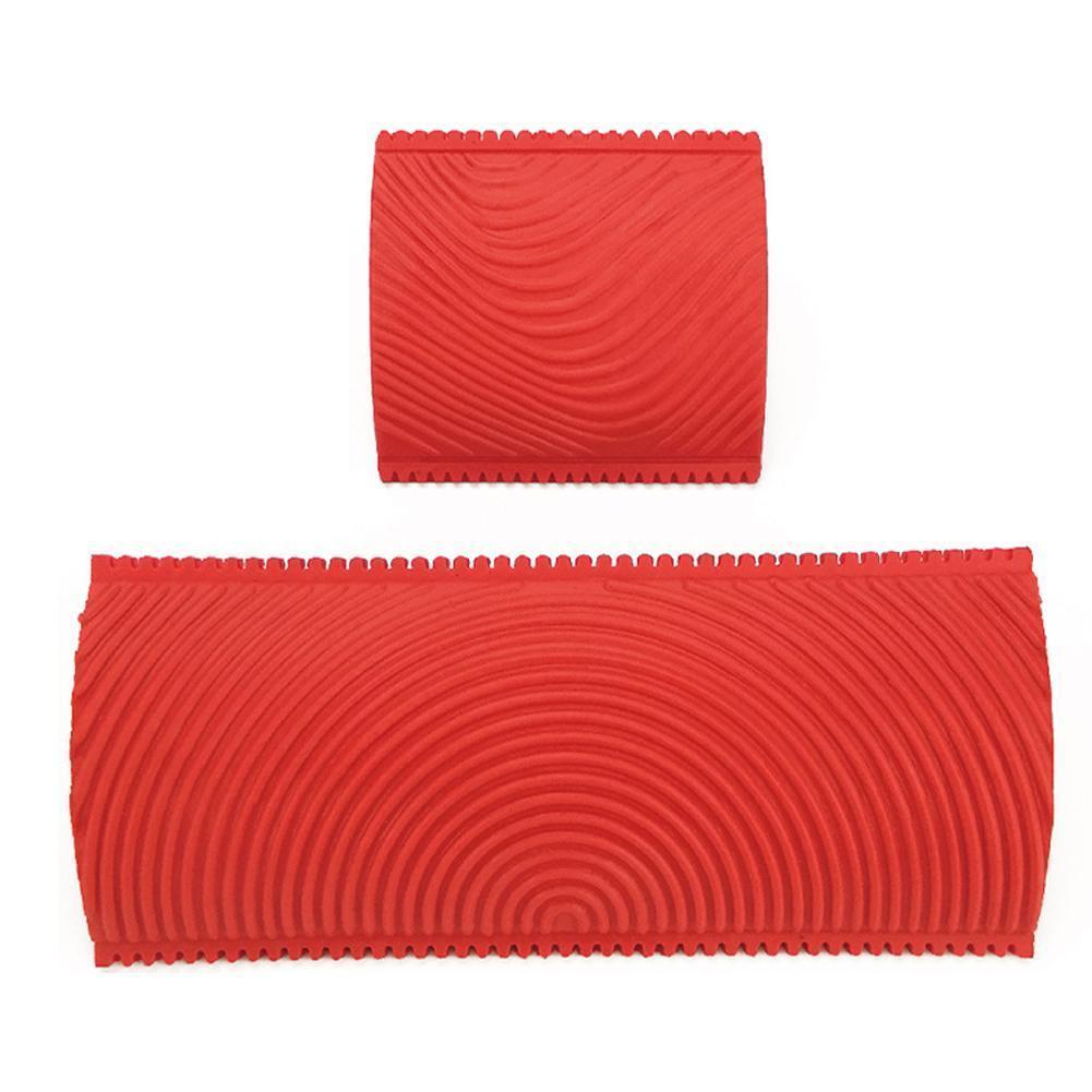 1 шт. Красный каучуковый валик для рисования с текстурой древесины, кисть для рисования с узором древесины, для домашнего пользования, много...