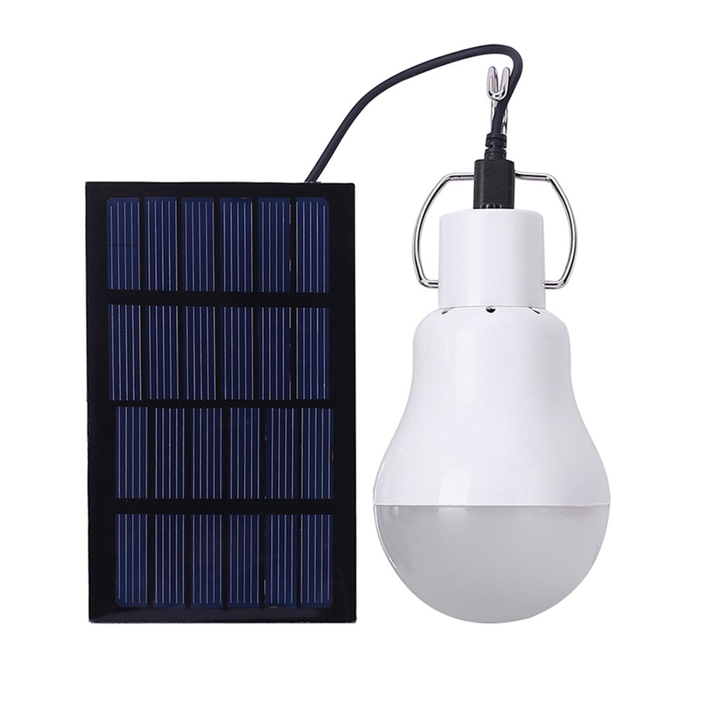 LED Solar Light Bulb Portable Garden Lamp Outdoor Waterproof Lighting for Indoor Home Camping Emergency 15W 130LM new portable solar panels charging generator power system home outdoor lighting for led bulb