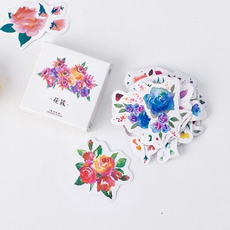 fiori-creativi-decorativi-adesivi-diario-fai-da-te-kawaii-planner-scrapbooking-cancelleria-adesiva-escolar-materiale-scolastico