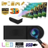 1080P HD Mini projecteur stereo sans perte haut-parleur video cinema maison cinema 7000LM LED lecteur multimedia Machine de Projection