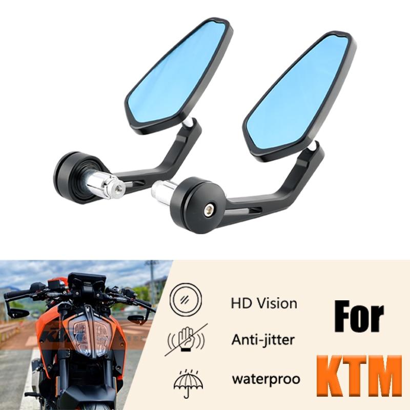 Боковые зеркала заднего вида для мотоцикла с ЧПУ, торцевые зеркала на руль, торцевые зеркала для KTM duke 790, rc390, 890, 1290, 690duke390