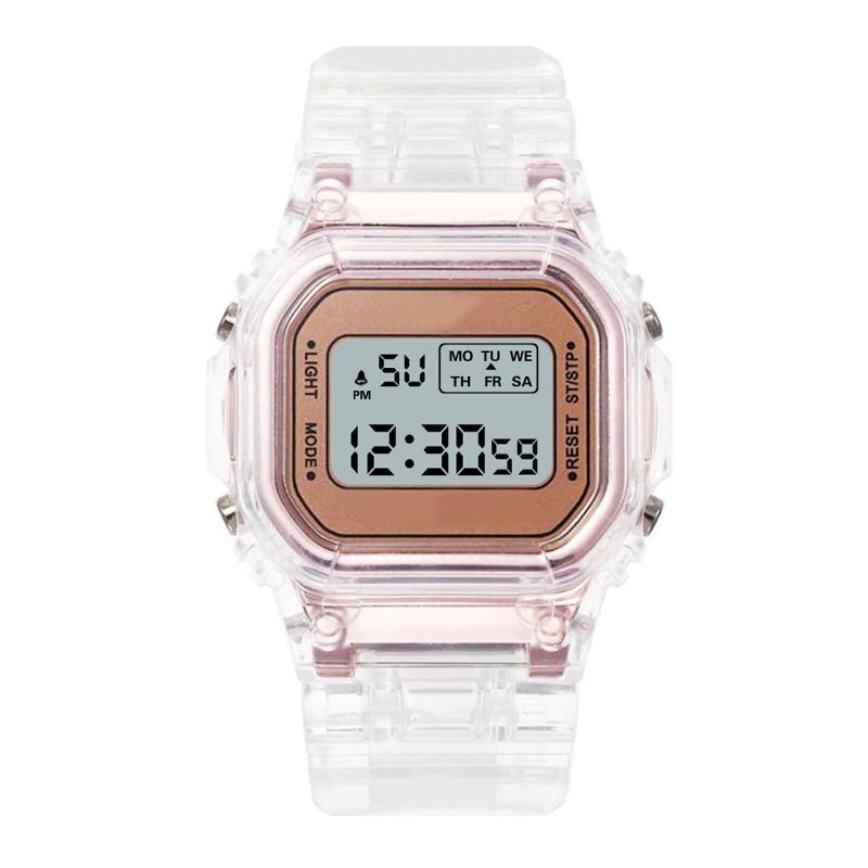 AliExpress - Electronic Watches Men Watch Silicone Strap Transparent Dress LED Digital Wristwatch women Sport Clock Wrist Relogio Feminino