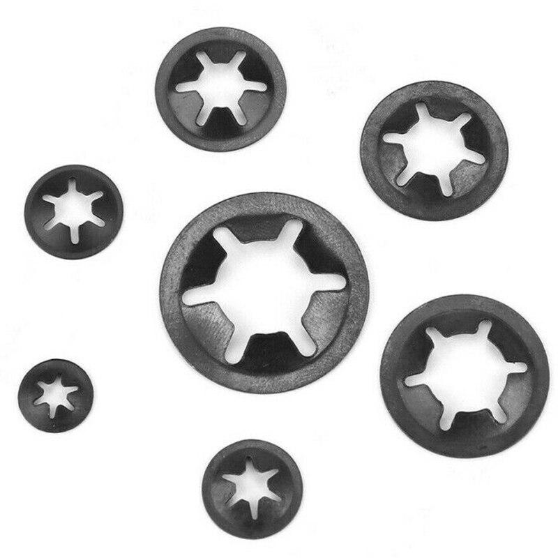 260pcs Manganese Steel Retainer Toothed Spring Washer Kit Spacer M3-M12 1 Box