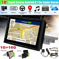 car stereo audio radio bluetooth 1din 7 touch screen hd monitor mp5 player navigation all in one machine android 8 1 16g memory