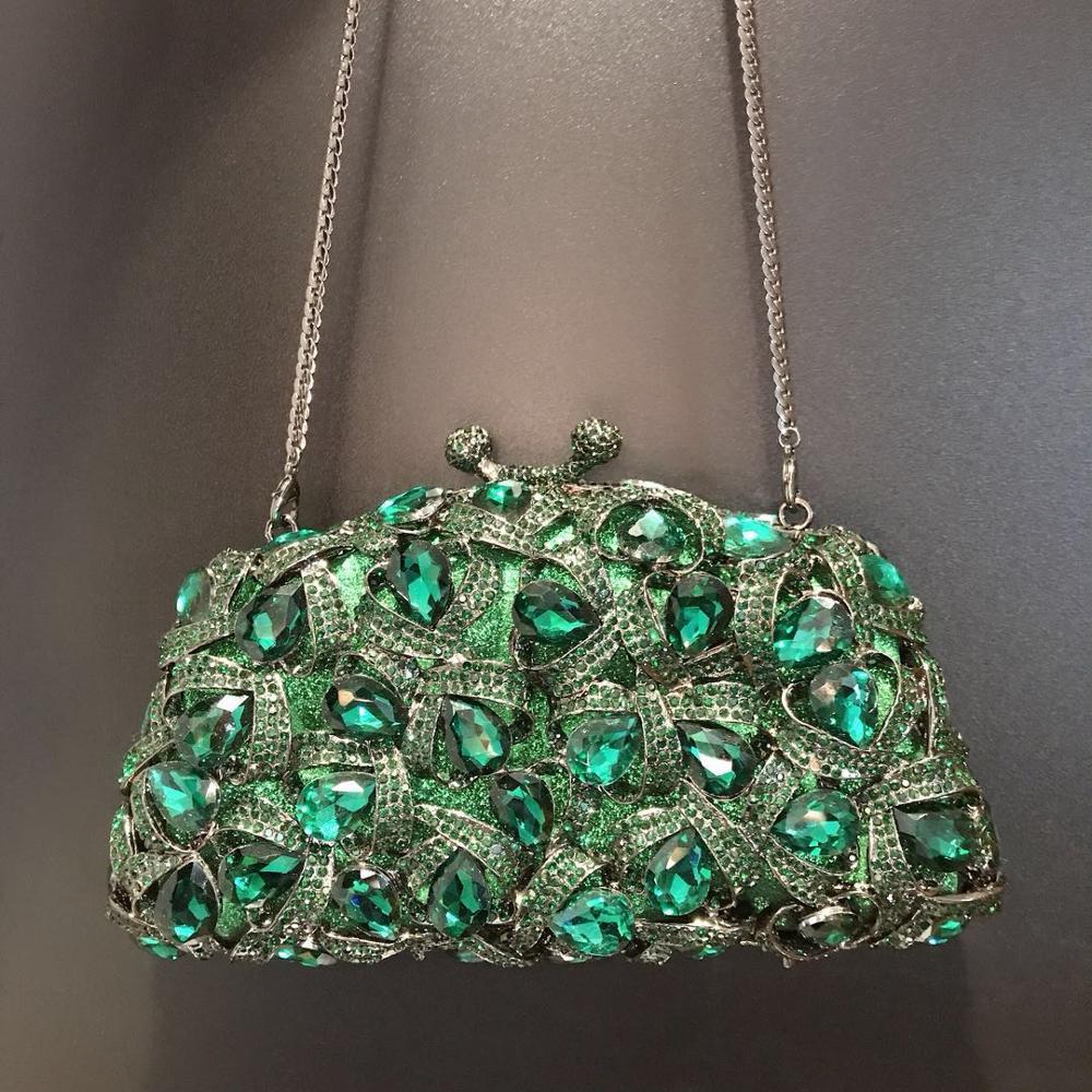 حقيبة يد نسائية من الكريستال ، حقيبة سهرة ، حقيبة كتف للعروس ، حقيبة كلاتش من المعدن والكريستال الزهري ، مجموعة جديدة