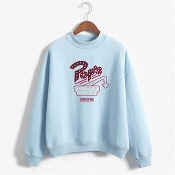 2019 Riverdale - Pops Chocklit Shoppe Crewneck Sweatshirt High-neck Streetwear South Side Serpents Crewneck Hoodie sweatshirt