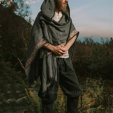 Manteau chaud Costumes médiévaux déguisement dhalloween pour hommes sweats Cosplay grande taille rétro Vintage Viking Pirate chevalier Robes