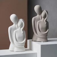 family nordic abstract statue thinker character sculpture ornaments resin ceramic decoration crafts living room home decor gift