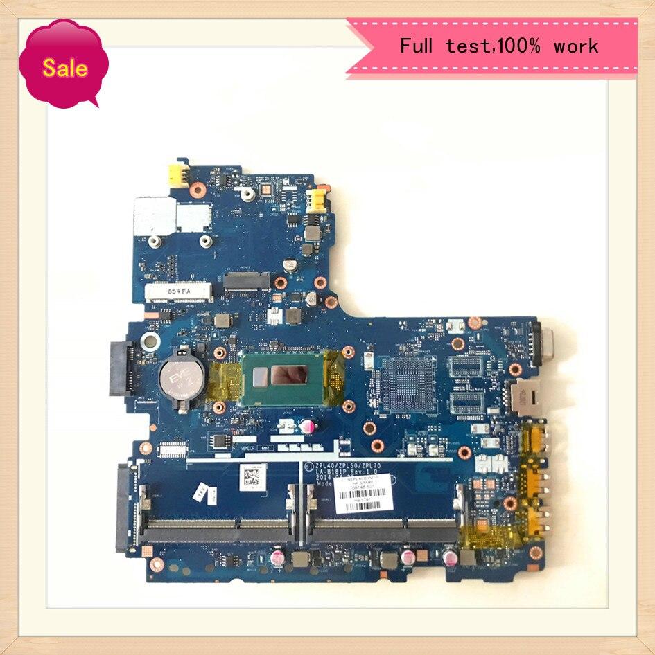 اللوحة المحمول ZPL40/ZPL50/ZPL70 LA-B181P ل HP Probook 450 G2 440 G2 470 G2 اللوحة 782951-601 وحدة المعالجة المركزية SR1EK I3-4005U DDR3
