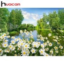 Huacan plein carré diamant peinture Nature 5D bricolage diamant broderie mosaïque paysage décorations Kit maison
