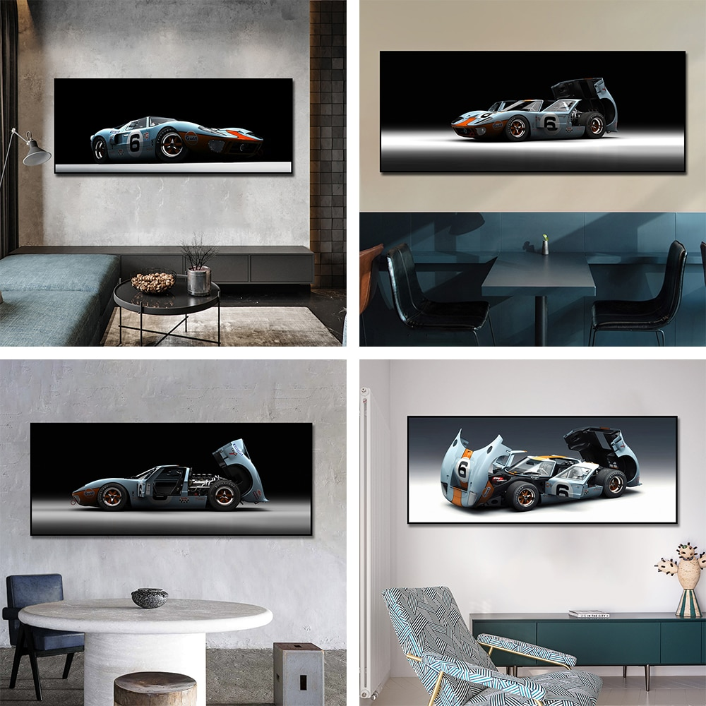 Classic Muscle Car Posters Ford Mustang Shelby Ford Canvas Painting Scandinavian Wall Art Picture For Living Room Home Decor