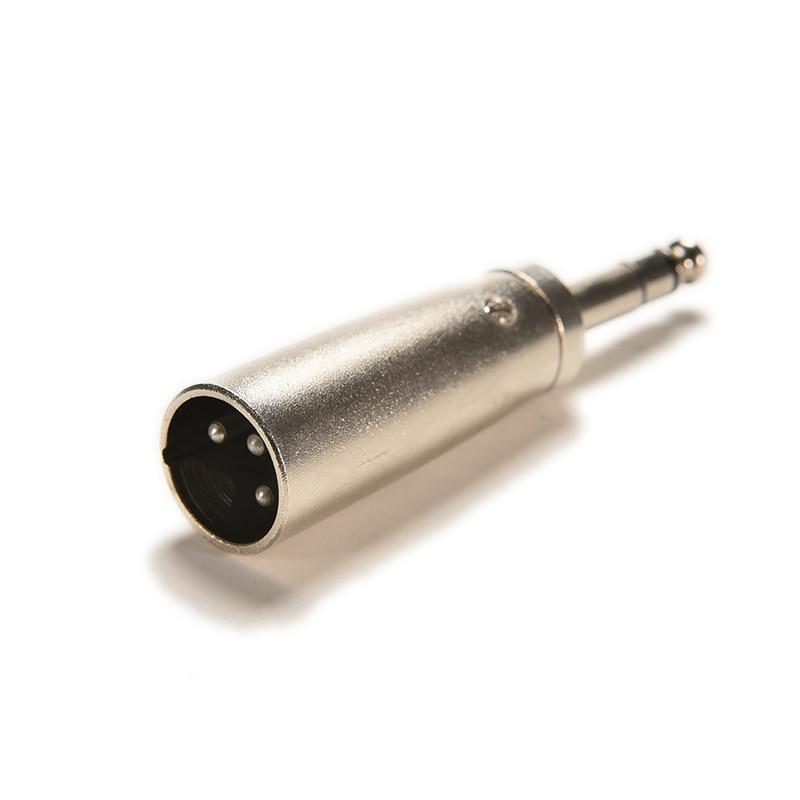 """Adaptador de microfone estéreo conector 3pin xlr plug macho para macho 1/4 """"6.35mm áudio binaural jack plug para dj amplificador mic"""