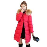 womens winter cotton clothes 2019 winter long down jacket female decoration body fur collar thickcoathooded plus size