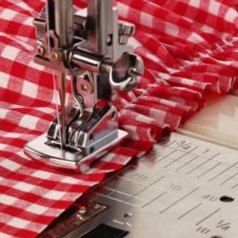 Gran oferta 1 Uds pie prensatelas de rizador de dobladillo enrollado plateado para máquina de coser Singer Janome accesorios de costura gran oferta