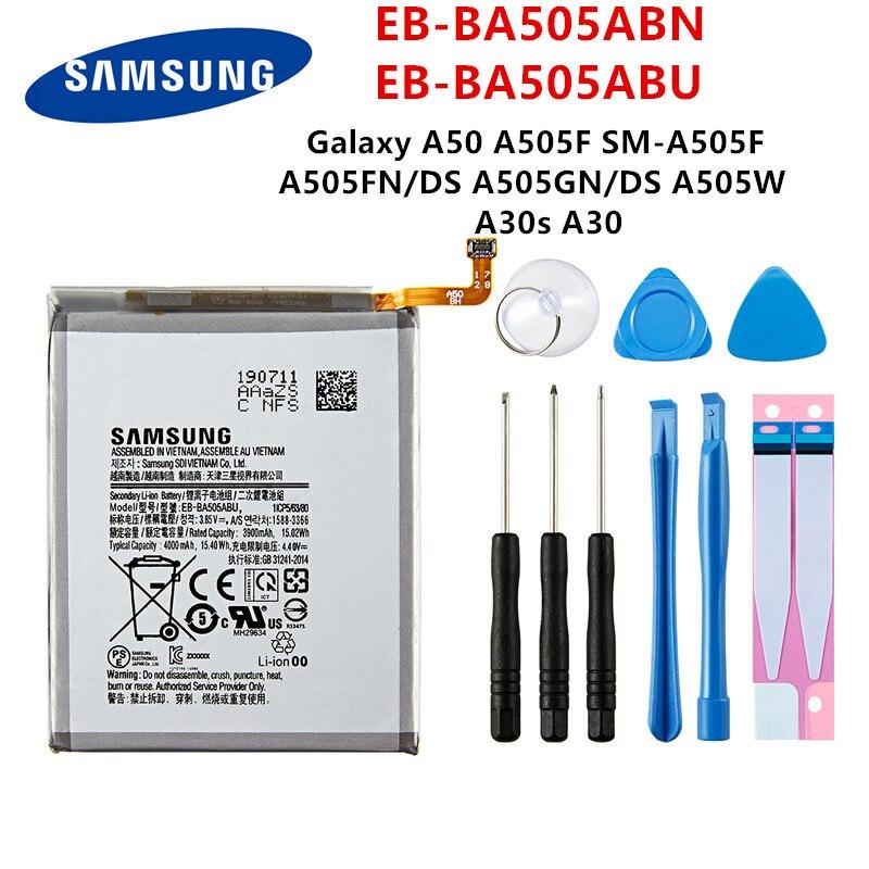 SAMSUNG Orginal EB-BA505ABN EB-BA505ABU 4000mAh batterie Für SAMSUNG Galaxy A50 A505F SM-A505F A505FN/DS/GN A505W A30s a30 + Werkzeuge