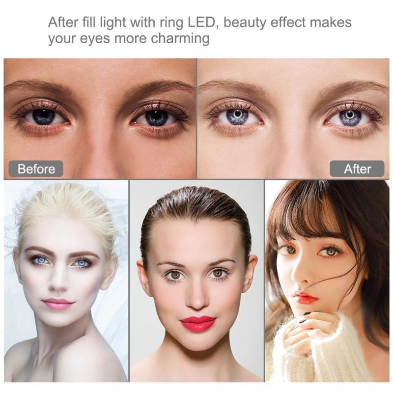 4 7 Inch Portable USB LED Ring Record Photography Video Light Set For Live Streaming Makeup YouTube Video Dimmable