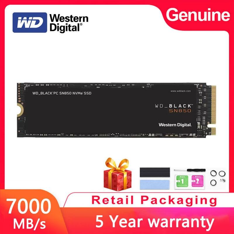 [해외] Western Digital WD_BLACK SN850 1 테라바이트 NVMe 내장 솔리드 스테이트 드라이브 PCIe 4.0 Gen4 기술 SSD, 최대 7000 메가바이트/초