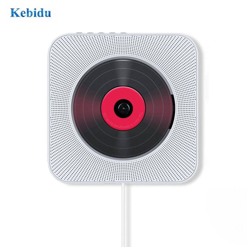 مشغل CD مع راديو FM ، مكبرات صوت مدمجة HiFi ، USB ، MP3 ، مثبت على الحائط ، بلوتوث ، صندوق صوت منزلي محمول مع جهاز تحكم عن بعد ، قابس أوروبي