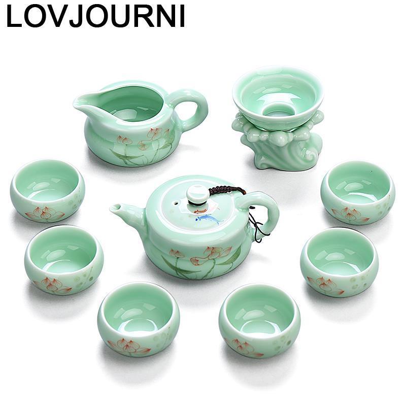 طقم شاي صيني أنيق من Keukenhulpjes ، منظم Kuchnia ، Cucina Gongfu بعد الظهر ، إكسسوارات تزيين المنزل ، طقم شاي صيني