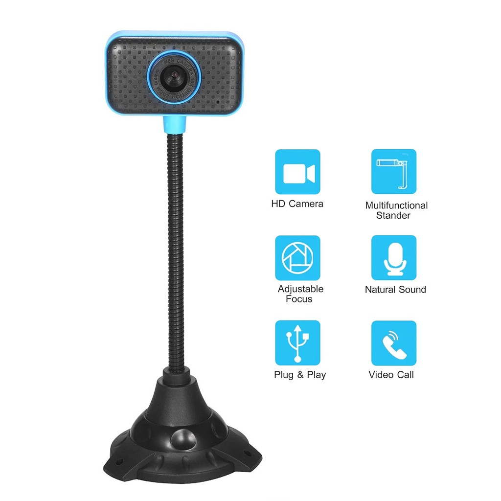 ¡Superventas! Webcam HD, cámara USB de escritorio para ordenador portátil, Plug and Play, videollamada, cámara de ordenador, triangulación de envíos #35