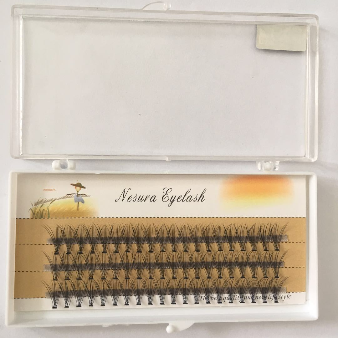Venta directa de los fabricantes 20 pelo de flor de fusión caliente 0,05 Material de visón de cachemir un solo grupo de injerto Super suave ojos falsos