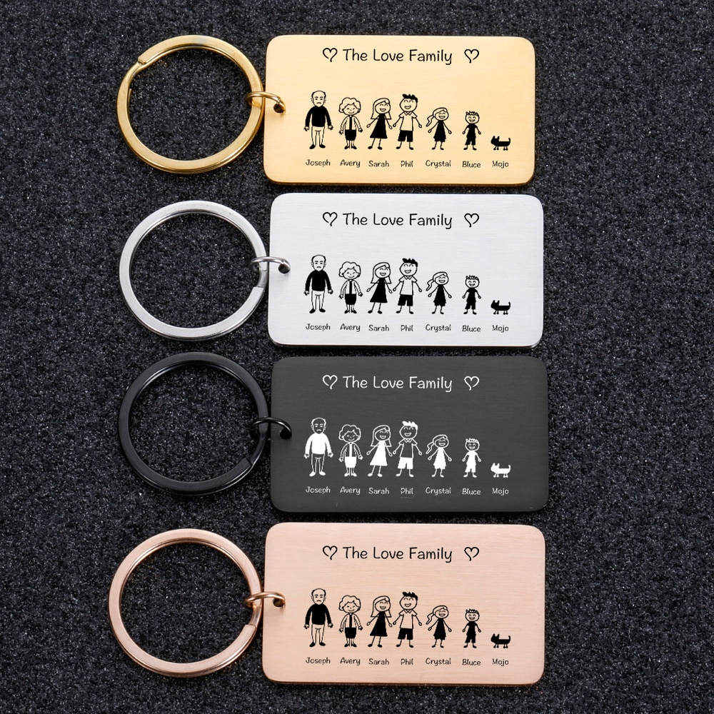 Фото - Family Love Cute Keychain Engraved The Smith Family for Parents Children Present Keyring Bag Charm Families Member Gift Keyrings charles pierce lewarne the love israel family