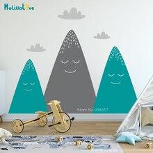Autocollant chambre de bébé multicolore bois   Joli décor pour chambre denfant, stickers de pépinière, papier peint pour chambre denfant, BA763