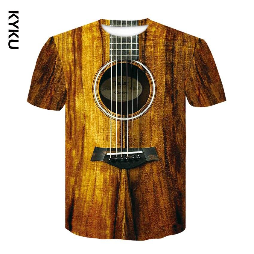 Mode t-shirt 3D hommes/femmes drôle hip hop guitare basse t-shirt impression streetwear musique haut costume enfants t-shirt Harajuku chemises
