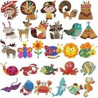 28 pieces diamond painting kits kids 5d diamond stickers diy cute animals diy stickers with diamond for kids by numbers