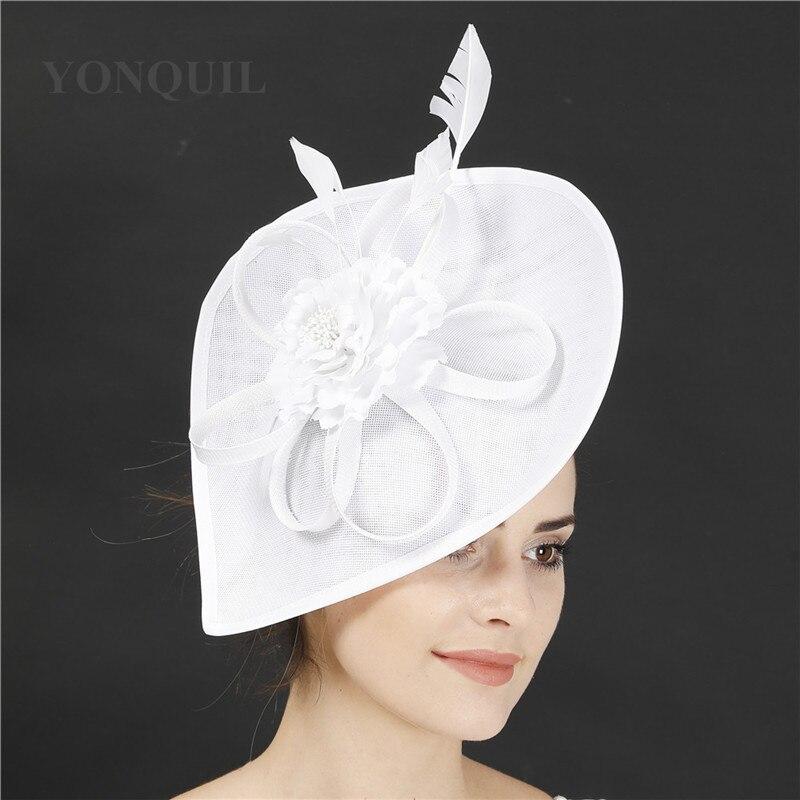 Kenducky Marron قطع زينة قبعات حفلات النساء الألفية الزفاف موضة أغطية الرأس الأزهار اكسسوارات الزفاف السيدات أيام خوذة