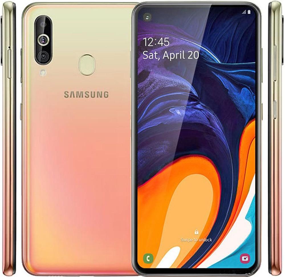Оригинал, Samsung Galaxy A60 A6060 90% Новый Dual Sim смартфон 6 ГБ ОЗУ 6 ГБ ОЗУ 64 Гб/128 ГБ ROM 6,3 дюйм Восьмиядерный процессор Snapdragon 675 NFC