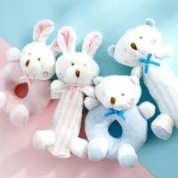 cat dog rattle toy comfort plush interactive doll rabbit bear tease cat teething young pet accompany doll cat plush
