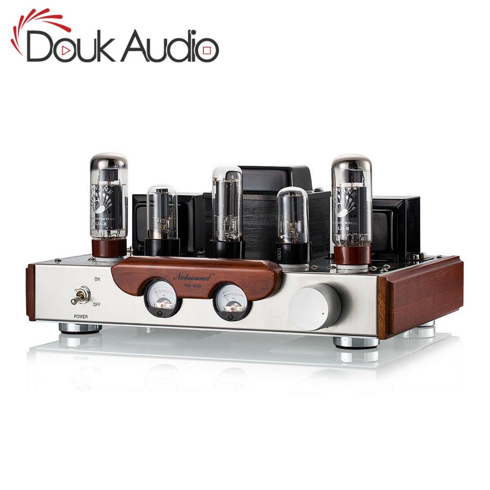 Amplificador de tubo de válvula Nobsound hecho A mano EL34 AMPLIFICADOR DE POTENCIA ESTÉREO HiFi de 2,0 canales de un solo extremo Clase A