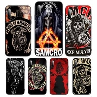 sons of anarchy tv logo phone case for redmi note 10 8 9 k20 6 5a promaxcover fundas coque