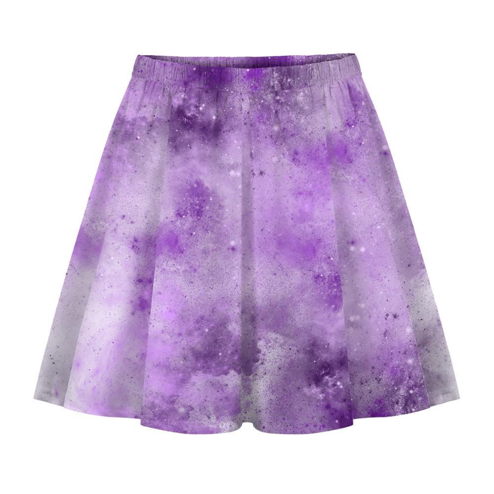 Мини-юбка женская с 3D принтом, летняя стильная плиссированная Расклешенная юбка с завышенной талией, повседневная юбка юбка расклешенная из экокожи
