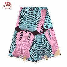 Tissu africain en cire Polyester rouge-Ankara   Imprimé de cire de haute qualité bintareal, tissu africain de 6 yards pour robe de soirée FP6099