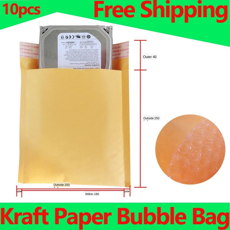 Bolsa de papel Kraft tipo sobre con burbujas, sobres de correos acolchados, envío de sobres, embalaje de burbujas, bolsos de mensajería, bolsas de almacenamiento, bolsa de correo con burbujas