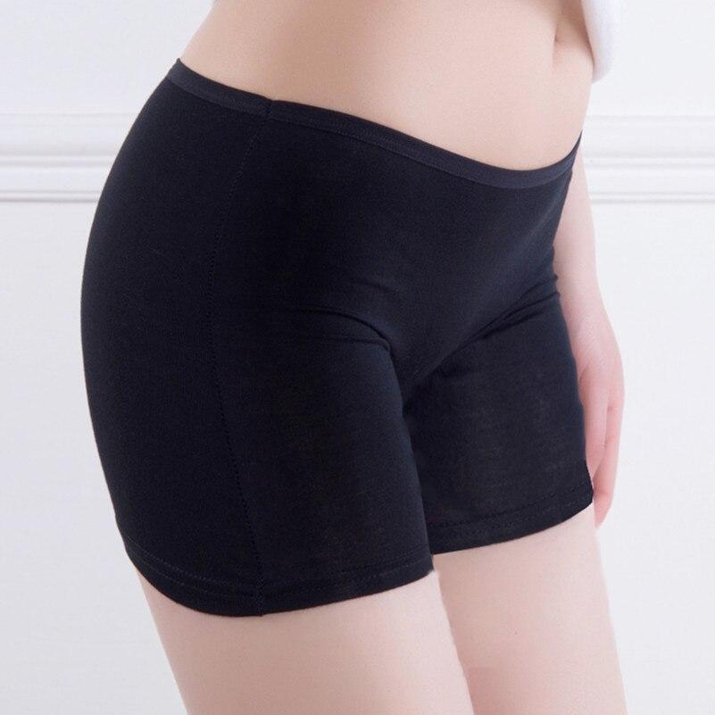 2021  New Women Soft Cotton Seamless Safety Short Pants Hot Sale Summer Under Skirt Shorts Modal Ice Silk
