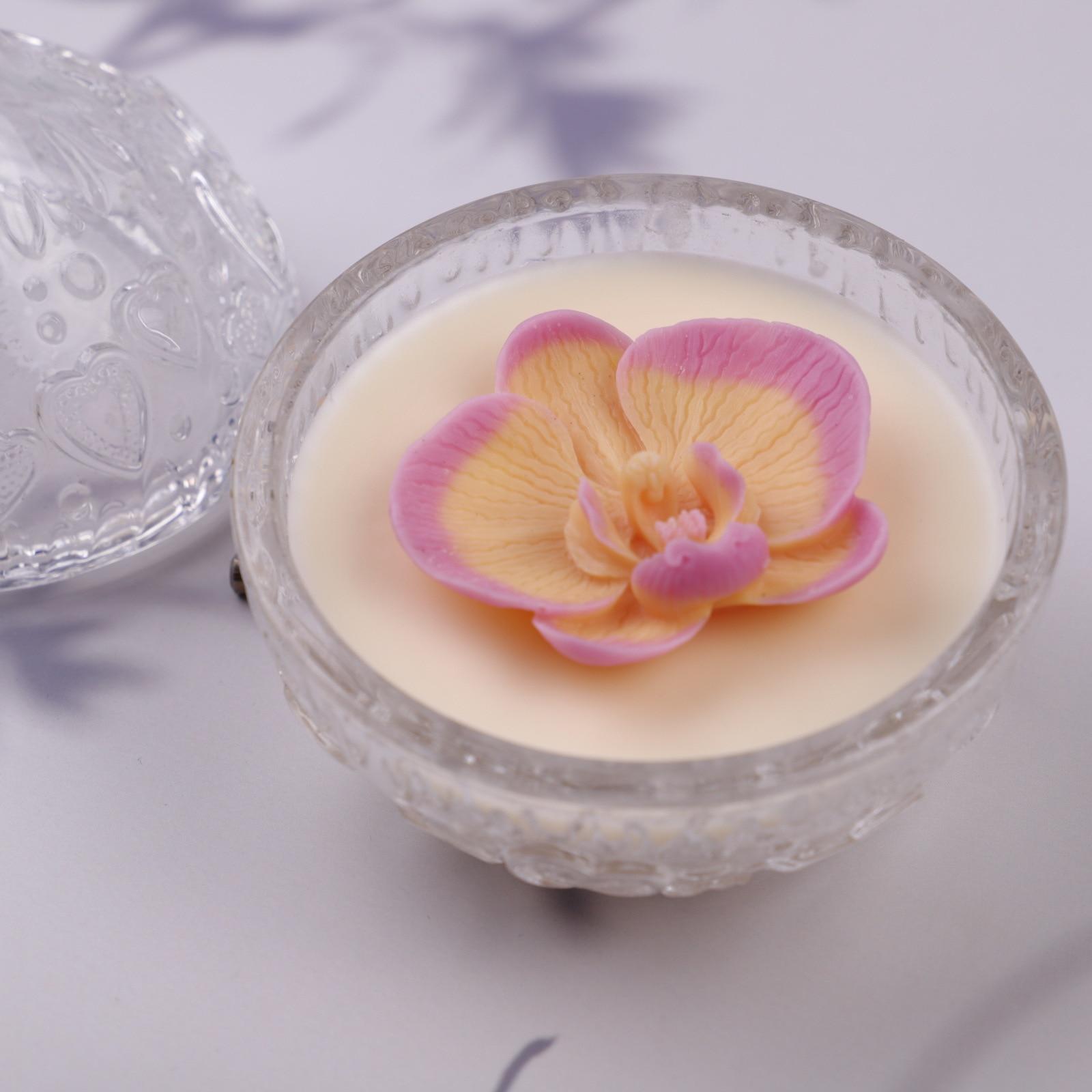 Силиконовая форма «фаленопсис» 3D для ароматерапии свечи силиконовая форма для мыла ручная работа антипригарная форма «сделай сам» для укр...