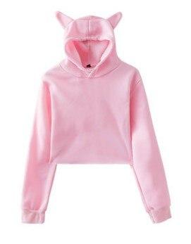 Фото - 2021 solid color printed short ear hooded sweatshirt Sweater Top Hot Koop volker koop bormann