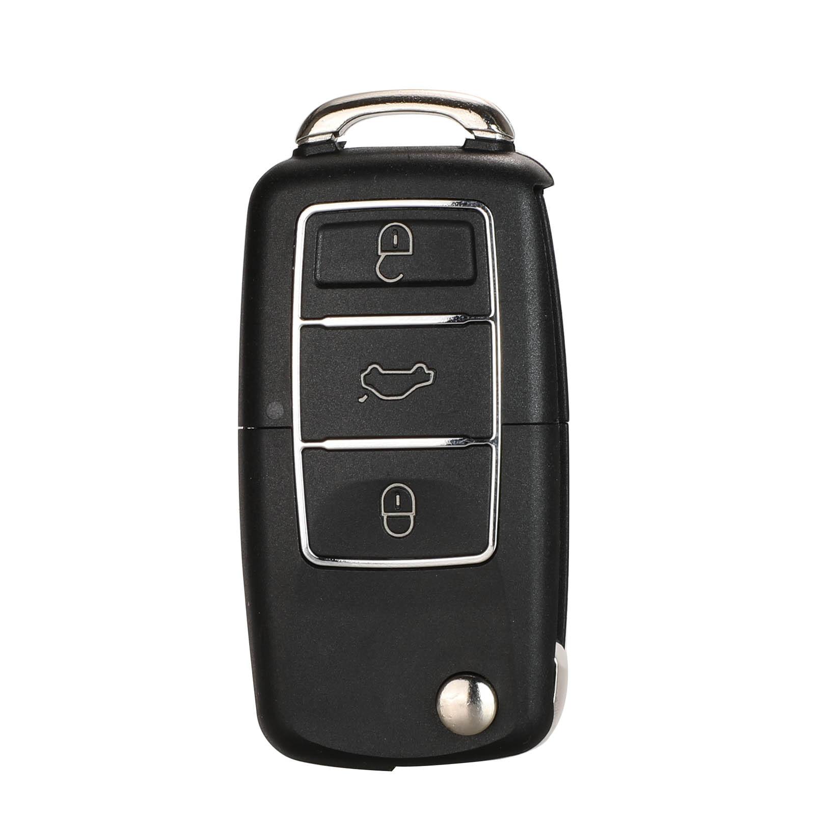 Jingyuqin Geen Batterij Houder Flip Auto Sleutel Shell Voor Vw Jetta Golf Passat B5 B6 Kever Polo Bora Caddy MK5 skoda 3BTN Afstandsbediening Geval