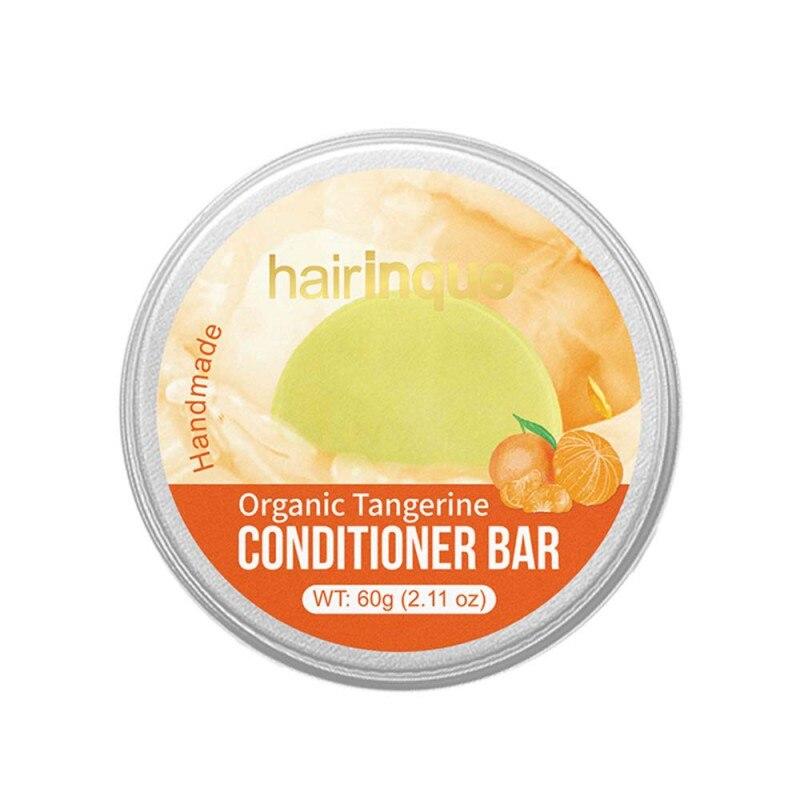 70g acondicionador de pelo natural barra profundamente hidratante reparando el cuero cabelludo tratamiento orgánico mandarín fragancia cuidado del cabello jabón-