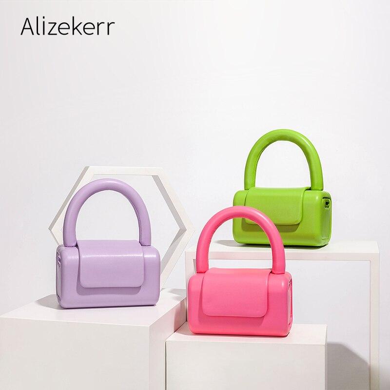 لطيف صندوق صغير حقيبة يد جلدية 2021 جديد مصمم قمة صغيرة مقبض الصلبة حقيبة كروسبودي الإناث kawaii يوم مخلب محفظة جودة عالية