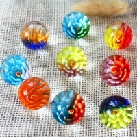25mm colorful glass ball console game pinball machine small marbles pat toys parent child beads bouncing ball sports unisex